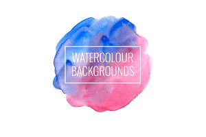 16 hand drawn watercolor backgrounds