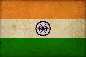 Grungy national indian flag