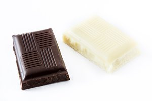 Black and white chocolate