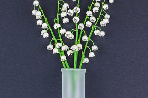 Bouquet of lilies of the valley on