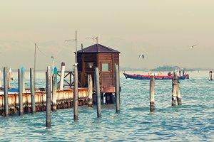 Sea pier in Venice