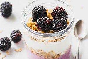 Healthy breakfast parfait