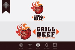 Grill Beef Logo