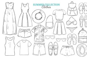 Sketch Summer Wardrobe Elements Set