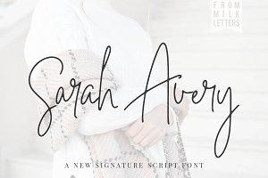 *NEW*Sarah Avery Script Font