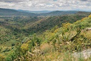 Landscape of the Serra da Estrela mountain range, in Sortelha, Portugal