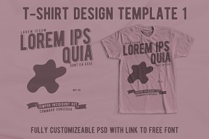 T-Shirt Design Template 1
