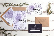 Purple hand-painted wedding suite