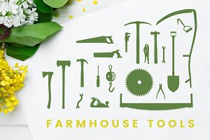 Farmhouse Tool Silhouettes