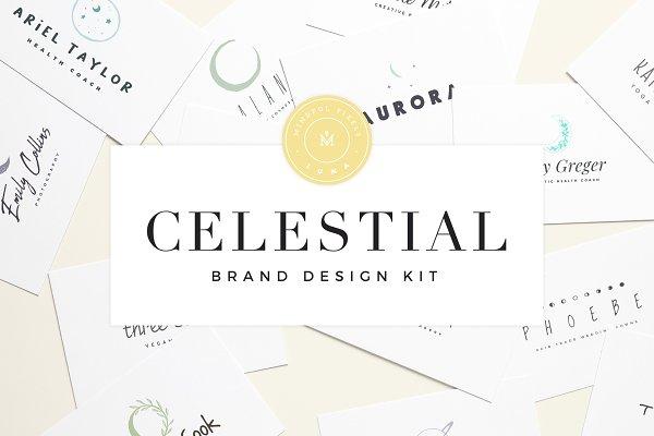 Logo Templates: Mindful Pixels - Celestial Brand Design Kit ~ Luna
