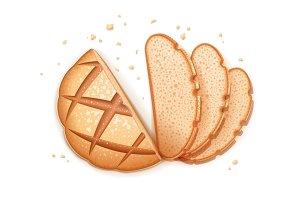 Rye round bread.