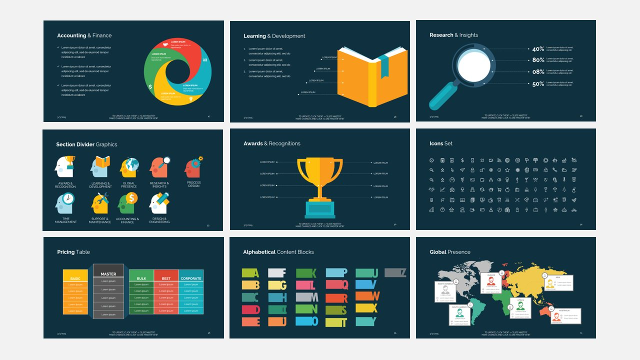 Business template think presentation templates creative market accmission Gallery