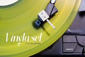 Vintage vinyl record set.