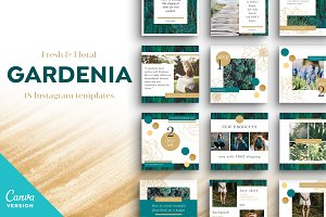 GARDENIA Canva Instagram Templates