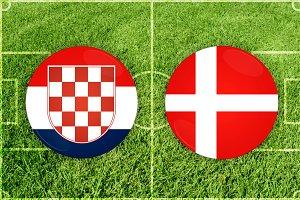 Croatia vs Denmark football match