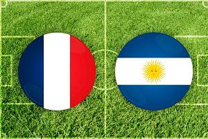 France vs Argentina football match