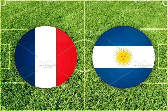 France vs Argentina football match