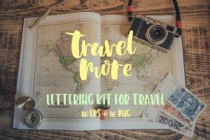 Lettering kit for Travel