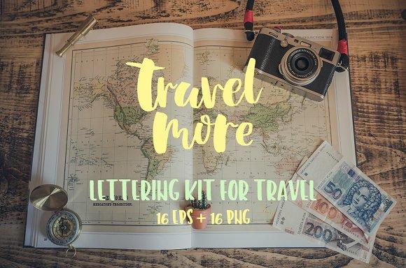 Lettering kit for Travel in Illustrations