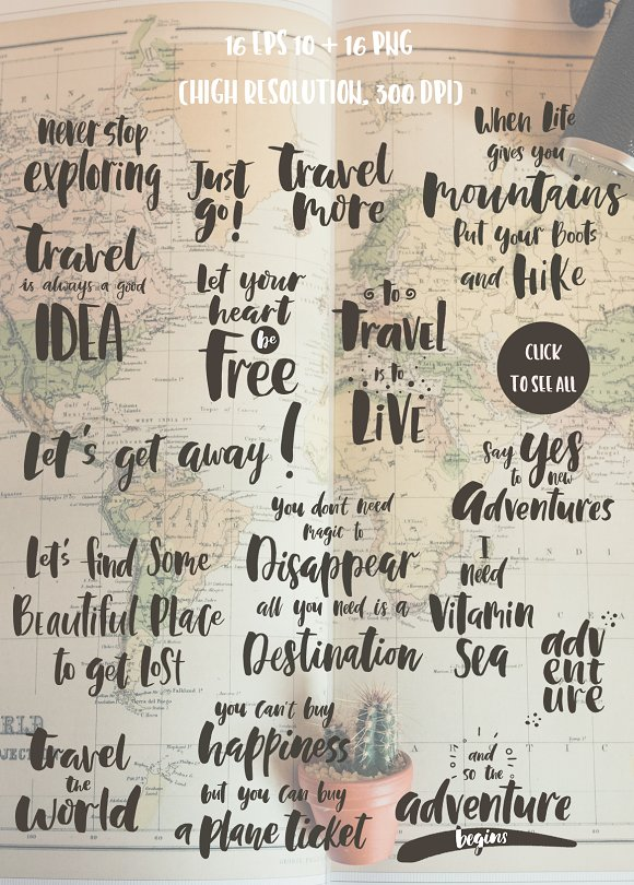 Lettering kit for Travel in Illustrations - product preview 1