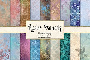 Rustic Damask Textures