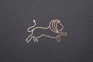 Outline Lion Logo