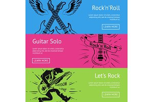 Let's Rock'n'Roll & Guitar Solo Set of Posters