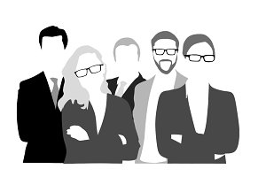 Business Team Graphic