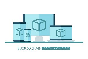 Blockchain technology illustration