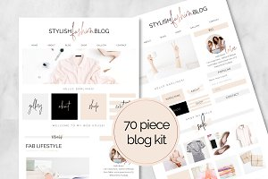 70 Piece Stylish Fashion Blog Kit