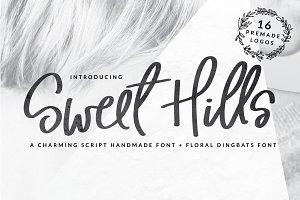 Sweet Hills Script Font + Dingbats