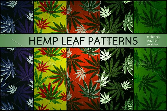 Hemp & Cannabis Leaf Patterns in Patterns