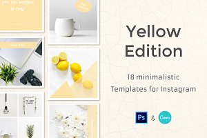 Yellow - 18 Instagram Templates