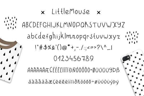 Best LittleBear & LittleMouse - Font Duo Vector