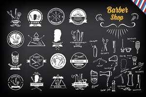 Barbershop design labels