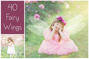 40 Fairy Wings PS Overlays
