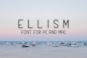 Ellism Sans Serif Typeface Font