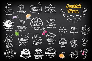 Cocktail menu doodles
