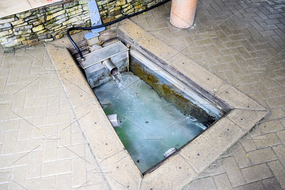 A Small Swimming Pool With Holy Water From The Spring A Niche In