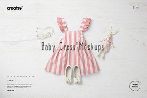 Baby Dress Mockup Set 11