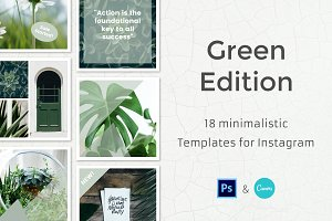 Green - 18 Instagram Templates