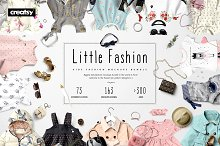 Little Fashion Apparel Mockup Bundle by  in Product Mockups