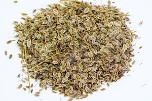 Dill seeds. Storage for seed dill seeds. Aromatic seasoning.