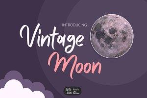 Vintage Moon Marker Font