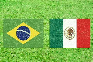 Brazil vs Mexico Sports Background