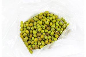 Mash seeds. Masha seeds in a bag.