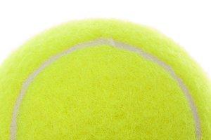 Tennis Ball Macro on a White Background