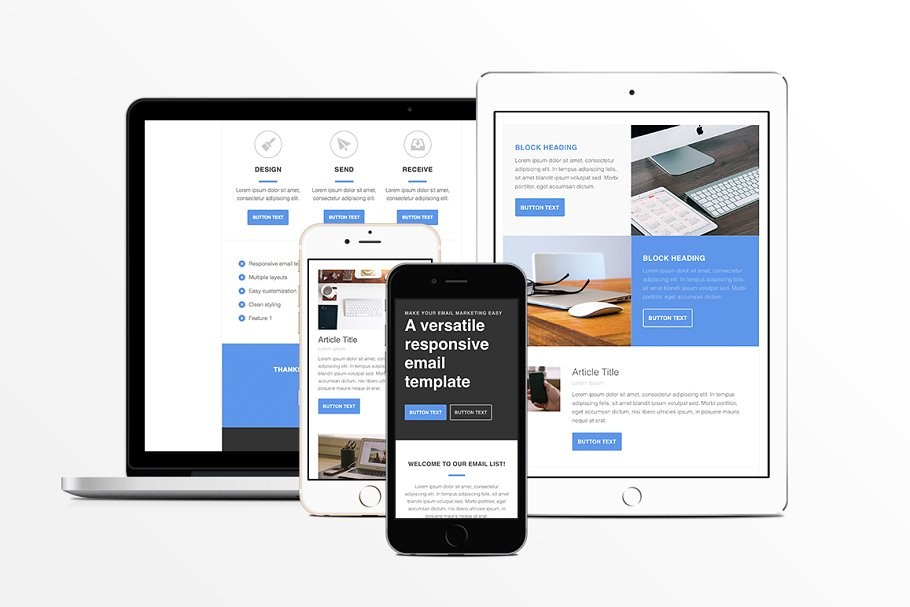 Responsive Email Templates | Responsive Html Email Template Other Platform Email Templates