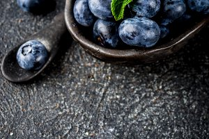 Raw blueberry