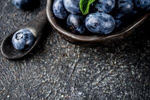 Raw blueberry